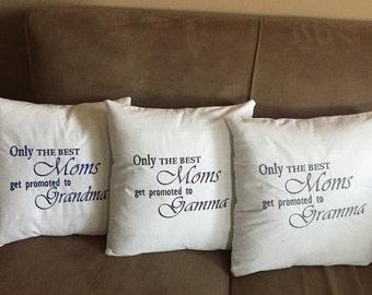 Embroidered pillow / custom pillow / grandma / mom / any sentiment avaliable