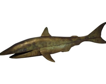 Vintage Brass Shark