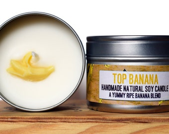SALE - Top Banana Natural Soy Wax Candle