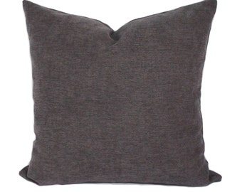 Gray pillow, Pillow cover, Throw pillow, Accent pillow, Decorative pillow, Sofa cushion, Sham, 16x16, 18x18, 20x20, 22x22, 24x24, 26x26
