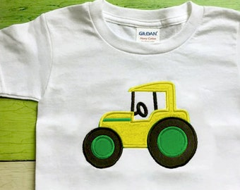 Farm Tractor Applique Embroidery Design