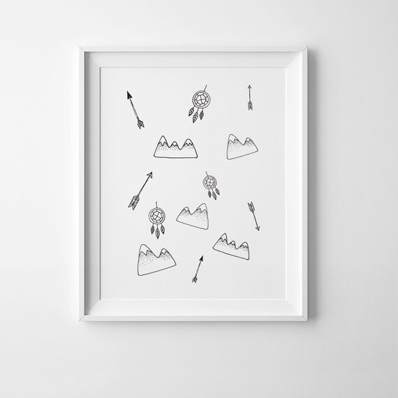 Favourite Scandinavian Nursery Kids Room Decor Items: Scandinavian Print Kids Room Decor Nursery Printable Art