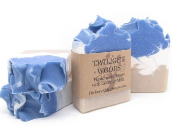 Twilight Woods Coconut Milk Clay Bar Soap ~ Handmade Soap, Homemade Soap, Cold Process Soap, Natural Soap, Hickory Ridge Soap Co