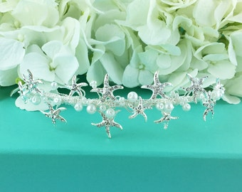 Starfish Headband, starfish wedding headband, starfish wedding hair accessories, bridal wedding starfish tiara starfish 207176098