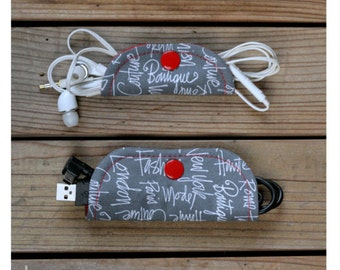 Ear buds & charger holders - Words