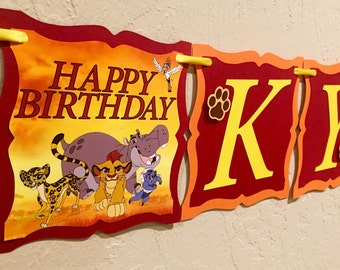 """NEW STYLE """"2 IN 1"""" Lion Guard Birthday Banner, Lion Guard Banner, Lion Birthday Party, Lion Guard Birthday, Lion Guard Invitations"""