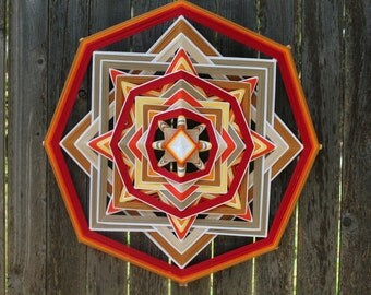 Change- 18 inch 8 point Ojo de Dios Mandala Boho Hippie Home Decor