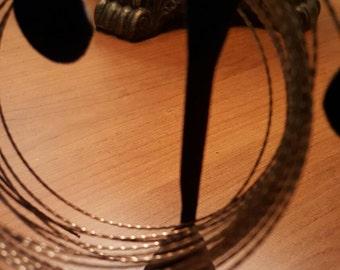 21 Gauge Bronze Craft Wire, Vintage Bronze Twisted Craft Wire 14 Ft