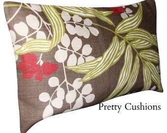 Romo Verbena Saddle Brown Bolster Cushion Cover