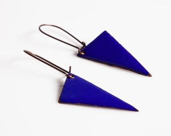 Addie Earrings - Enamel on copper