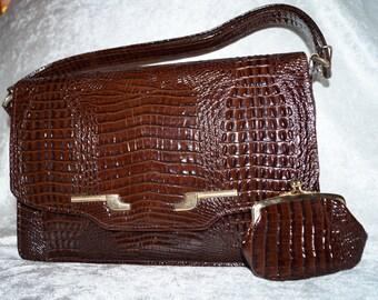 Precious 60s Handbag Handle Bag Croco