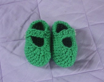 Crochet Baby Mary Jane Shoes,