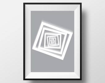 Modern art print, Modern art poster, Modern art illustration, Geometric art print, Geometric art poster, geometric art gift, modern art home