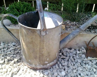 Vintage, Large, Galvanised Watering Can, 2.5 gallon