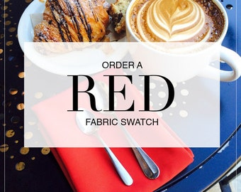 Red Table Linens, Order A Fabric Swatch | This Listing is for a Red Swatch Only. Red Napkins and Table Linens are sold separately