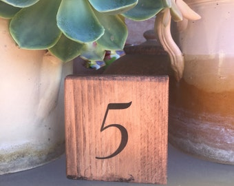 Numbers table markers