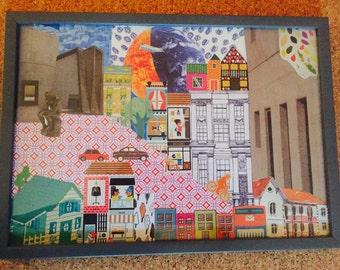 Paper collage (framed)