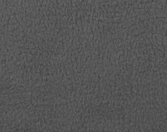 Charcoal Gray Fleece Fabric - by the yard
