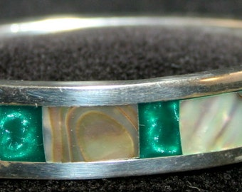 Mother of Pearl & Silver Bracelet # 536