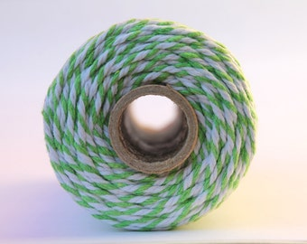 ON SALE-12 Ply Lime Green Bakers Twine 100 yard spool 12 Ply Thick Cotton String- Birthday Baby Shower Wedding