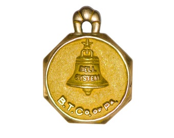 14k Bell Telephone Company of Pennsylvania charm