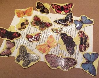 Modern Ephemera Butterflies 16pc Pack