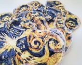Exploding Tardis Dr Who inspired Cloth Pads ~ Cloth Panty Liner ~ Organic Mama Cloth ~ Cloth Menstrual Products ~ Reusable Cloth Pads ~