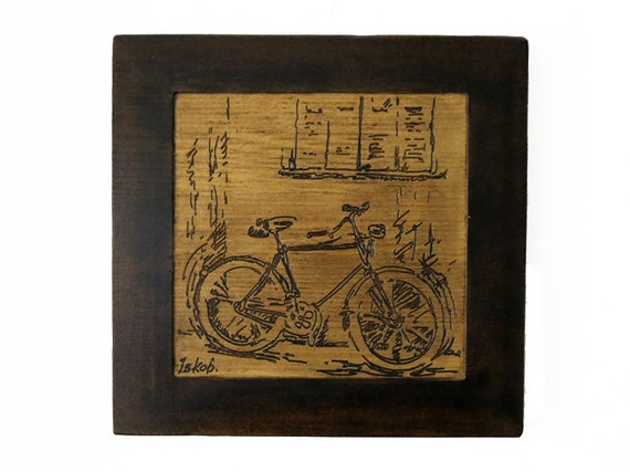 Bicycle art bicycle home decor bicycle decoration wood by for Bicycle decorations home