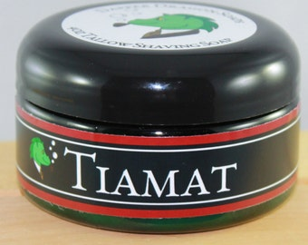 Tallow Shaving Soap - Tiamat - Dragon's Blood, amber, vanilla and subtle florals.