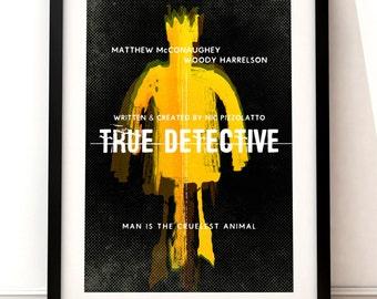 True Detective inspired print, True Detective print, TV art, True Detective, TV inspired print, Matthew McConaughey