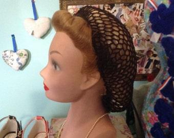 Snood/hairnet in brown ideal for re-enacting