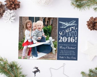Airplane Holiday Photo Card