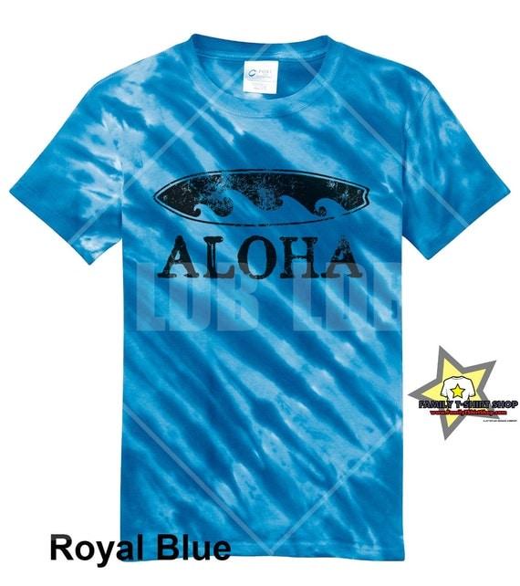 Aloha Surfboard Hawaiian T-Shirt - Tie Die T-Shirt