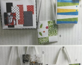 Butterick 5659 Bag or Tote Bag, Shopping Bag Sewing Pattern, Small Bag, Over shoulder Bag, Large Bag, Beach Bag, Spring Purse, Purse Pattern