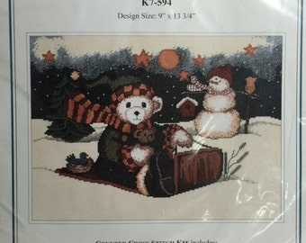The Design Connection's Polar Sledding Counted Cross Stitch Kit K7-594