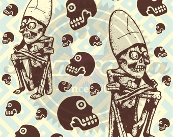 Mictlantecutli... Lord of the Aztec Underworld Wallpaper Pattern!!!