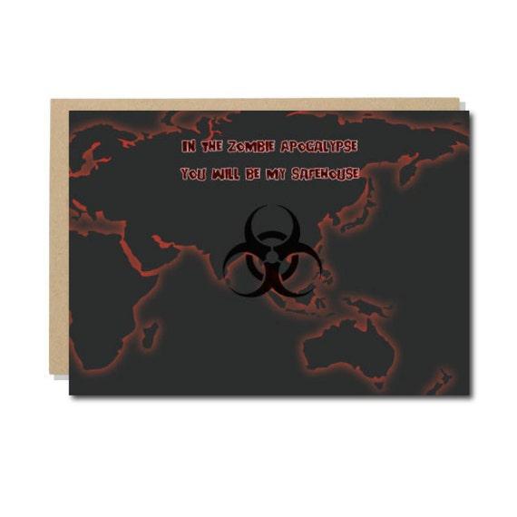 Zombie Apocalypse Valentine's Day Card