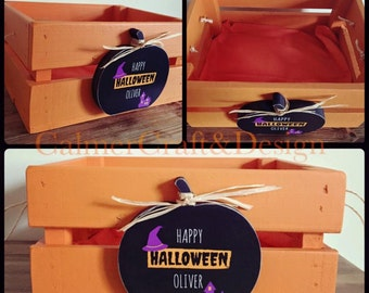 Halloween Trick or Treat Crate. Fill with chocolate and sweets for you and your trick or treaters.