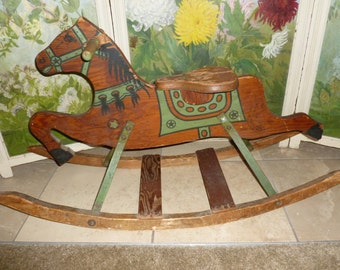 Vintage Rocking Horse From The 1940's