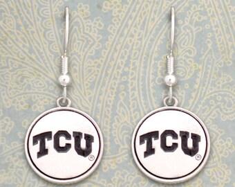 TCU Horned Frogs Medallion Earrings