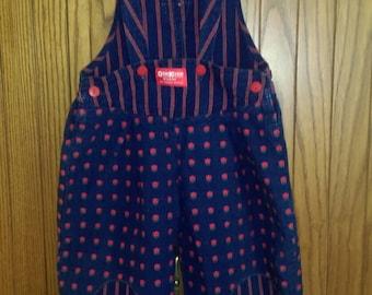 Vintage Osh Kosh Toddler Girl Overalls