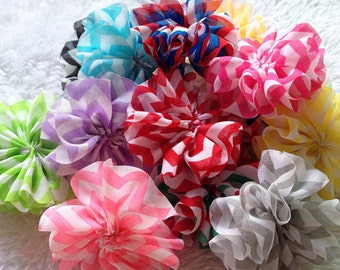 30pcs Chiffon chevron flower DIY Ballerina Twirl flowers supplies