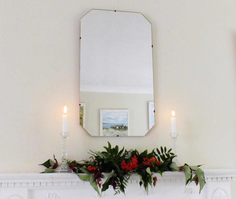 grand miroir ancien miroir vintage miroir octogonal par andijlucas. Black Bedroom Furniture Sets. Home Design Ideas
