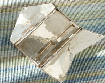 Sterling Envelope / Pop Open Vintage Silver / Large Cigarette Case / Heavy Weight Mexican Silver / Simple Pattern