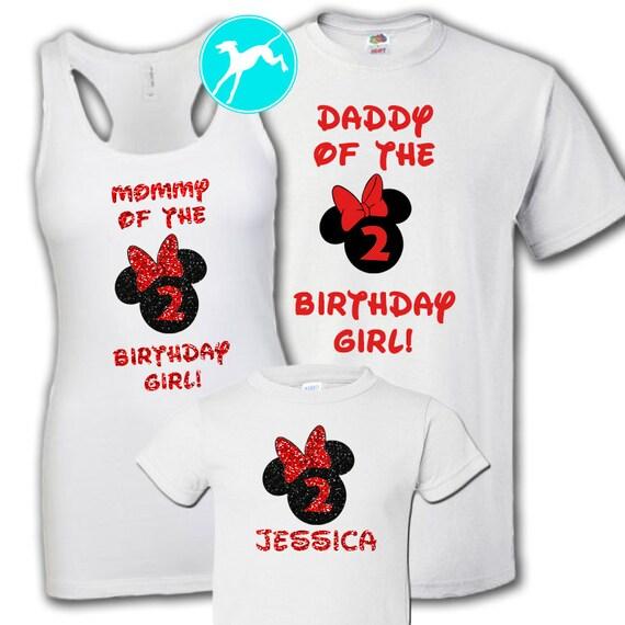 Disney Birthday Party Family Shirt Set Minnie Mickey Mouse