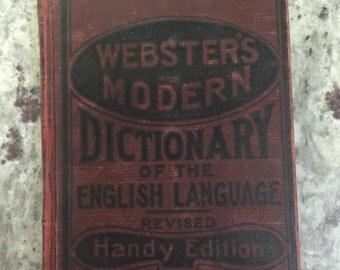 Vintage Webster's Modern Dictionary