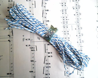 10 Metres of British Butchers Twine in Blue and White 10m British Bakers Twine Bundle