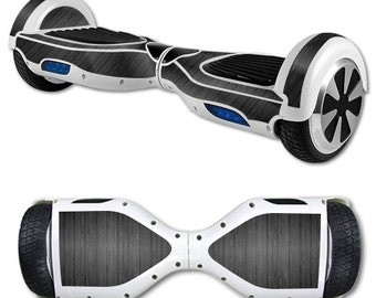 Skin Decal Wrap for Self Balancing Scooter Hoverboard unicycle Black Wood