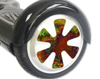 Skin Decal Wrap for Hoverboard Balance Board Scooter Wheels Rust