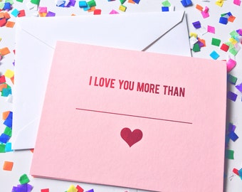 Valentines day card, vday card, galentines day card, valentines gift, Anniversary card, I love you Greeting card